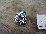 БРОНЬ Натуральный нефрит лунный камень адуляр в серебре кольцо с нефритом лунным камнем 17,5-18 размер Индия, фото 8