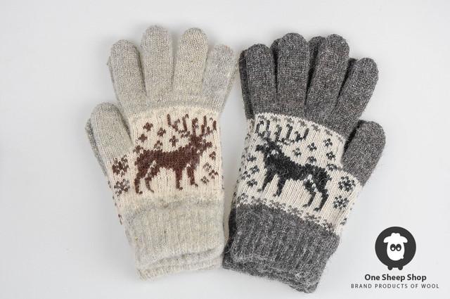 Вязаные перчатки мужские