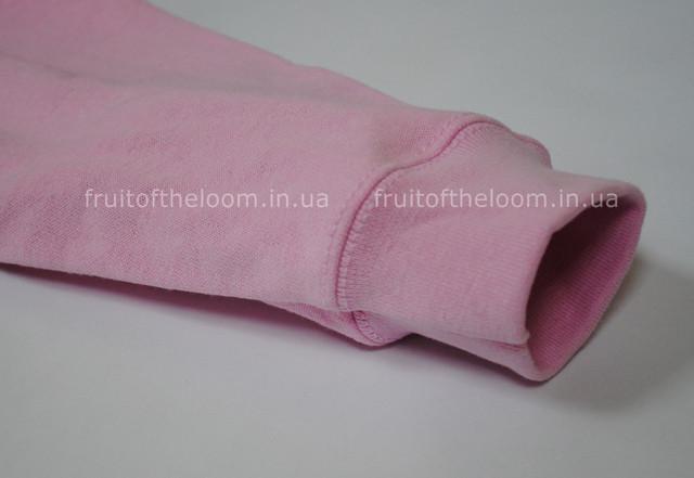Светло-розовая детская классическая толстовка с капюшоном