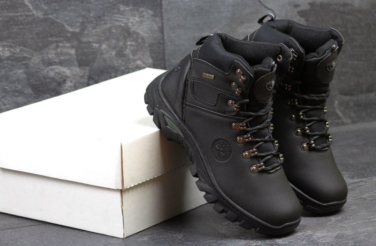 Ботинки мужские Timberland (черные), ТОП-реплика
