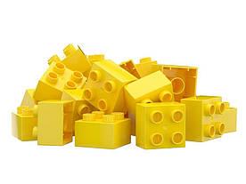 Детский конструктор Nobi PRO на 100 деталей 2x2 желтый