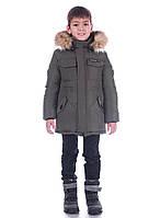 Зимняя куртка для мальчика размер 134, 140