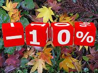 Осенние скидки 100х10%