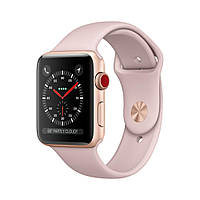 Apple Watch Series 3 GPS+LTE 42mm Gold Aluminum Case with Pink Sand Sport Band MQK32 [42mm|Pink Sand Sport Band]