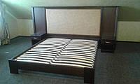 Кровать Кармен из массива ольхи с мягким изголовьем, фото 1