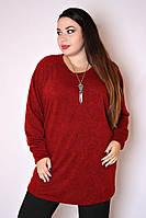 Туника большого размера Кулон (3 цвета) , кофточка большого размера, одежда больших размеро