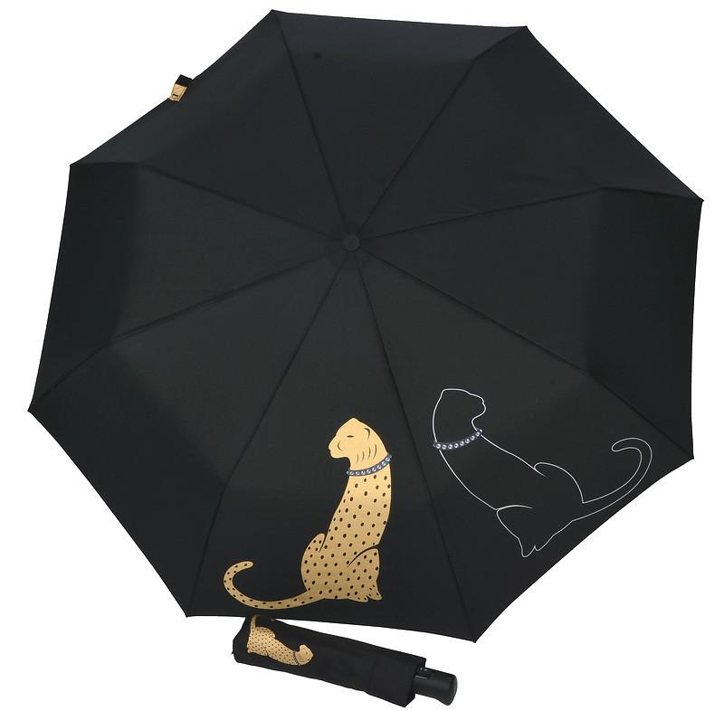 Зонт женский модный, полный автомат, PUMA DOPPLER Carbonsteel 744765 P черный