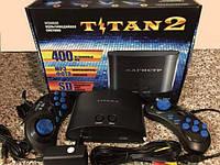 Игровая приставка титан с встроенными 400 играми 200 денди и 200 сега качественная современная приставка