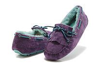 Женские зимние мокасины UGG Australia Mandie Purple (Оригинальные Угги Австралия) с мехом фиолетовые