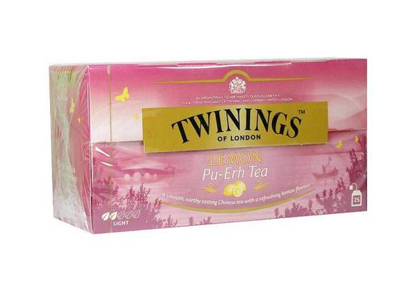 Чай черный Twinings Pu-Erh с лимоном, 25п.х2г, фото 2