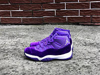 """Женские кроссовки Air Jordan 11 """"Purple Velvet"""", Копия"""