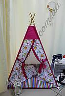 """Детский игровой домик, вигвам, палатка, шатер, шалаш, вігвам, дитячий будинок палатка """"Весёлые птички"""""""