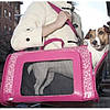Сумка - переноска Pet Voyage Leopard 21377 (Леопард) для котов и собак ярко-розовая 46Х30Х24 см