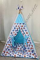 """Детский игровой домик, вигвам, палатка, шатер, шалаш, вігвам, дитячий будинок палатка """"Маленький лётчик"""""""