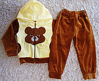 Детский велюровый спортивный костюм Мишка
