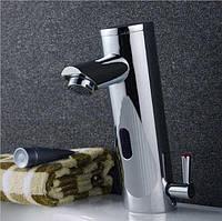 Смеситель сенсорный для умывальника в ванную хромовый Aquaroom кран в раковину для душа