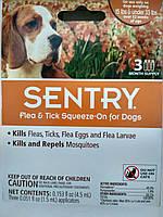 Капли от блох, клещей и комаров Sentry СЕНТРИ для собак весом 7-15 кг