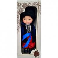 Кукла Мальчик Украинець35 см в национальном костюме меховом жупане В222/4Украина в красивой подарочной короб