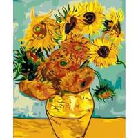 """Рисование по номерам Букет """"Соняшники Ван Гог"""" 40*50см"""