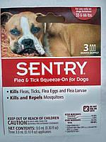 Капли Сентри (SENTRY) от блох, клещей и комаров для собак 15-30 кг