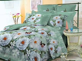 Двуспальный с евро простыней комплект Махровый Пион