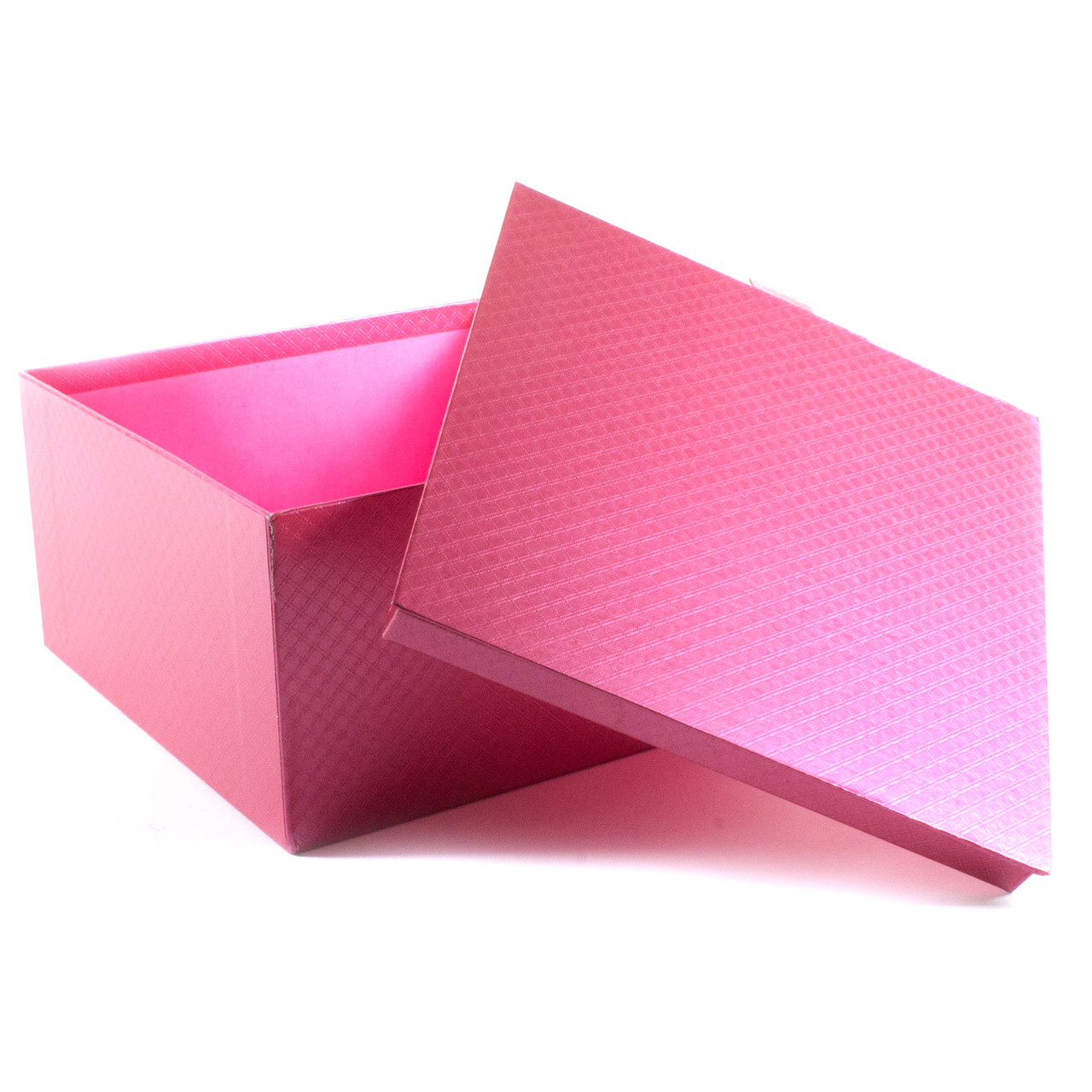 Подарочная коробка Розовый Металлик 22 x 22 x 12 см