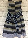Комплект плаття і болеро для дівчаток в клітинку під поясок., фото 5