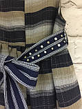 Комплект плаття і болеро для дівчаток в клітинку під поясок., фото 6