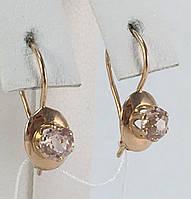 Серьги с аметистом, золото 583 пробы,СССР