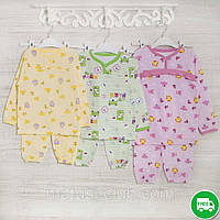 Теплые пижамы для девочек и мальчиков 1,3_5_лет,2208фуп  трикотаж с начесом, 2208фуп,  92,104,116 Рост