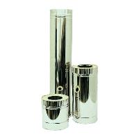 Труба двустенная дымоходная нерж / оцинк 130 1.0 304 0,5м термо