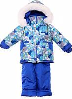Детский зимний костюм на овчине-подстежке (от 6 до 18 месяцев) Синяя галактика