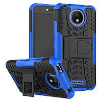 Чехол Motorola Moto C Plus / XT1723 противоударный бампер синий