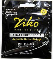 Струны Ziko DAG -010 (010-048) для акустической гитары
