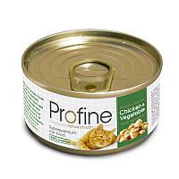 Консервы для кошек Профайн (Profine Chicken & Vegetable), мясо курицы с овощами, 70 гр