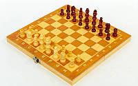 Шахматы, шашки, нарды 3 в 1 деревянные, фигуры-дерево, р-р 34x34см. (W7723)