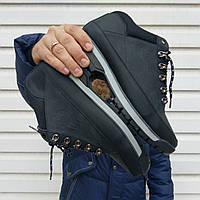 Мужские зимние ботинки New Balance НА МЕХУ, черные. Размер 44