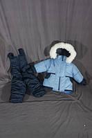 Детский зимний костюм на овчине-подстежке (от 6 до 18 месяцев) светло голубой