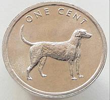 Острова Кука 1 цент 2003 - Легавая собака