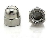 Гайки колпачковые М8 DIN 1587 из стали А2, фото 1