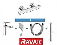 Набор смесителей для душа RAVAK Termo 5в1
