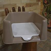 Unizoo  Туалет для собак с бортом и сеткой  для собак Р587 (42x42x15 см)