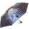 Оригинальный женский зонт автомат ТРИ СЛОНА RE-E-112-2, цвет голубой. Антиветер!