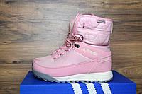 Зимние женские сапоги Adidas Terrex 2 розовые 3095