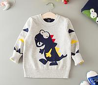Вязанный свитер Дракоша для мальчика 2,3,4,5,6,7 лет