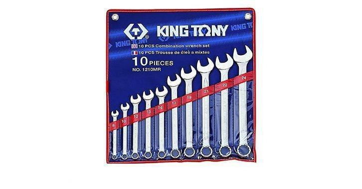 Набор ключей комбинированных KING TONY 1210MR 8-24мм (10 предметов), фото 2