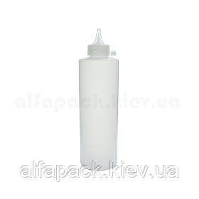Бутылочка дозатор для соусов белая 350 мл.