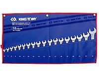 Набор ключей рожково-накидных KING TONY 1218MRN 6-24мм (18 предметов)