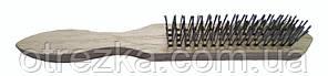Щетка по металлу ручная деревянная 4х16 ORION