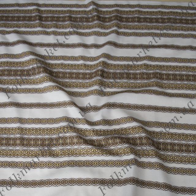 Ткань для скатертей с украинской вышивкой Роксолана ТДК-108 2/4